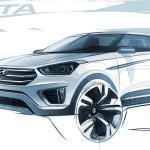 Novo SUV compacto, Hyundai Creta tem desenhos revelados
