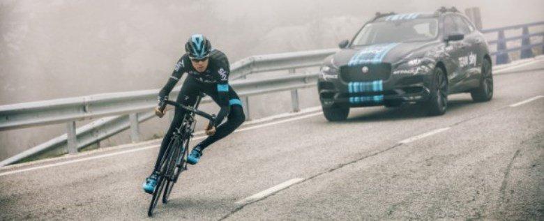 Jaguar F-Pace aparecerá como carro de apoio no Tour de France 2015