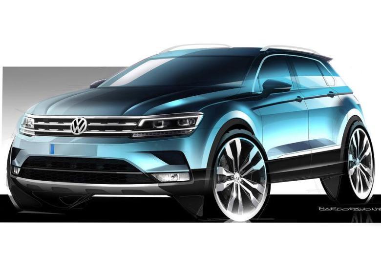 Volkswagen divulga primeiros teasers do novo Tiguan