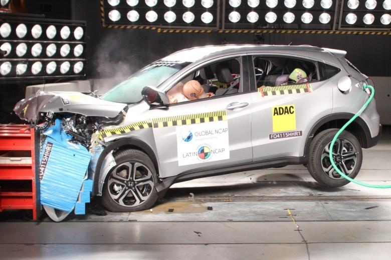 Honda HR-V recebe cinco estrelas nos testes de colisão do Latin NCAP