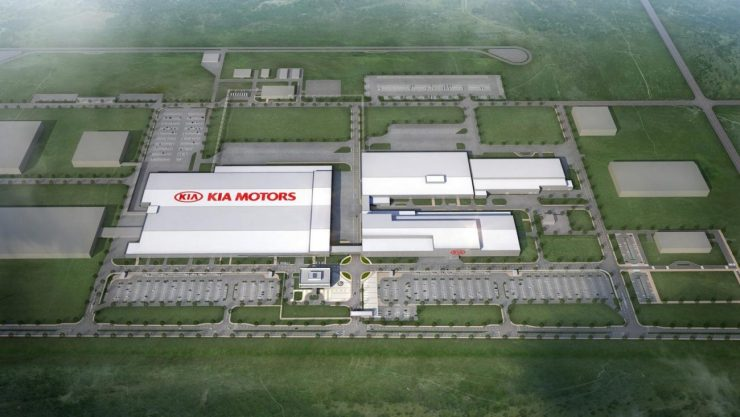 kia motors mexico plant aerial view rendering