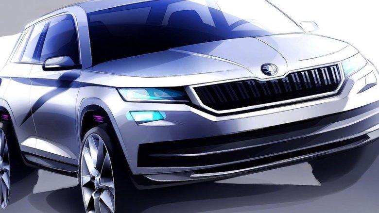 SUV Skoda Kodiaq tem esboços revelados, apresentação ocorre em setembro