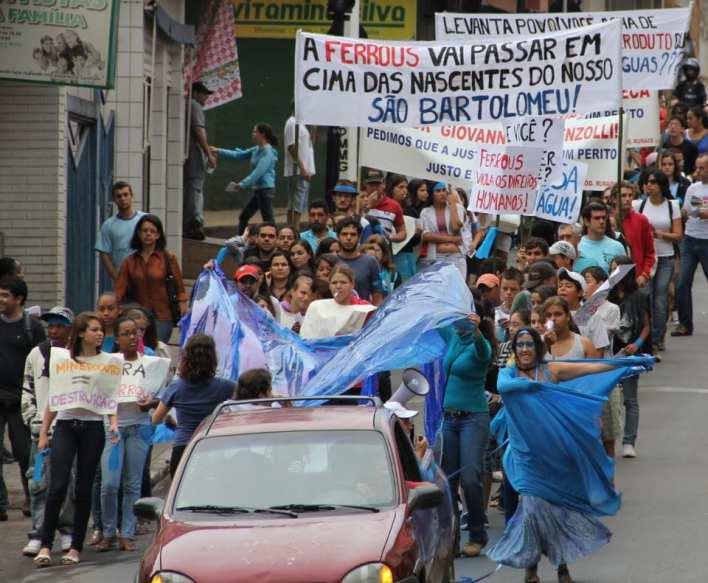 Manifestação contra o mineroduto em Viçosa.
