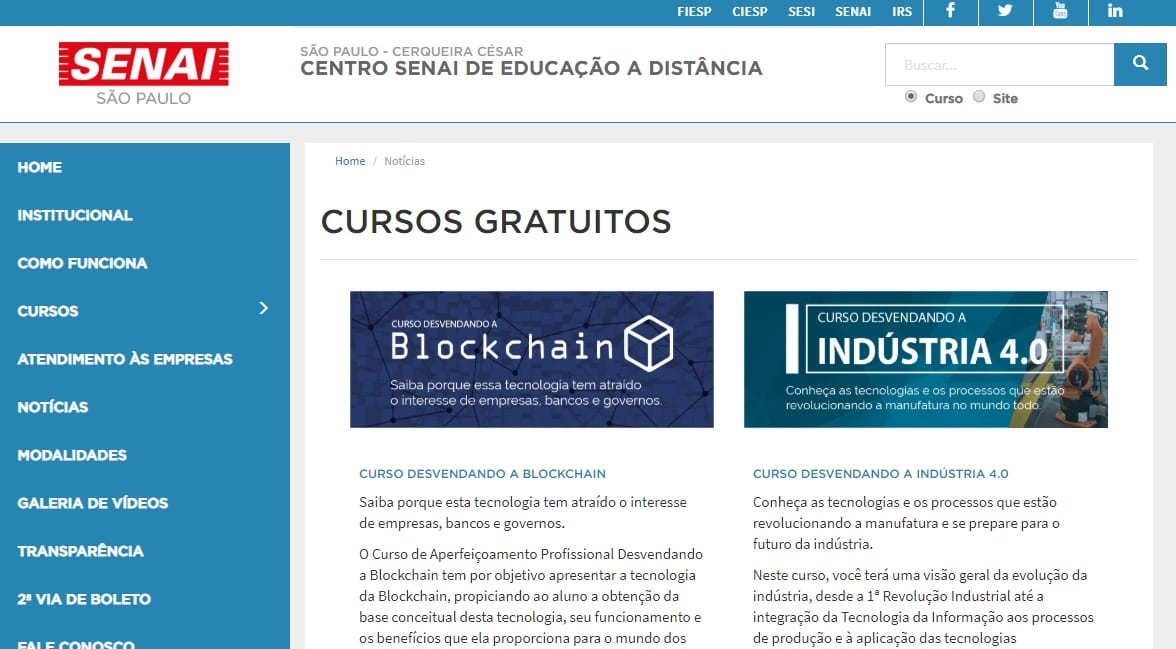 Senai Oferece 12 Cursos Online Gratuitos De Aprendizado Industrial Primeiro A Saber