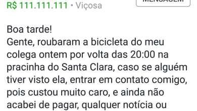 Photo of Usuário relata roubo de bicicleta no Santa Clara