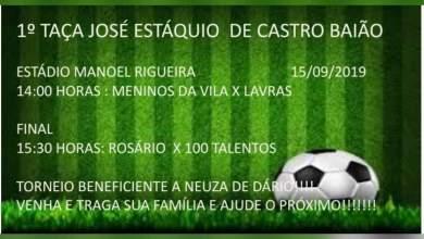 Photo of Participe da 1ª Taça Beneficente José Eustáquio de Castro Baião em São Miguel do Anta