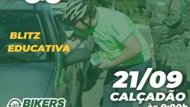 Foto de 1º Bikers no trânsito realiza blitz educativa