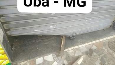 Photo of Comércio é arrombado e furtado em Ubá