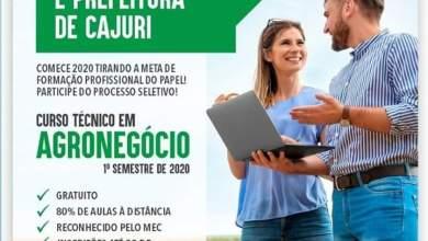 Photo of Curso técnico em agronegócio gratuito será realizado em Cajuri