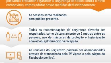 Photo of Reuniões da Câmara de Viçosa retornam hoje (05)