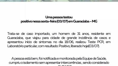 Photo of Guaraciaba registra 1º caso confirmado de COVID-19