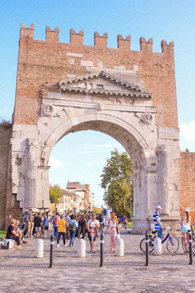 Arco D'Augusto em Rimini, Itália