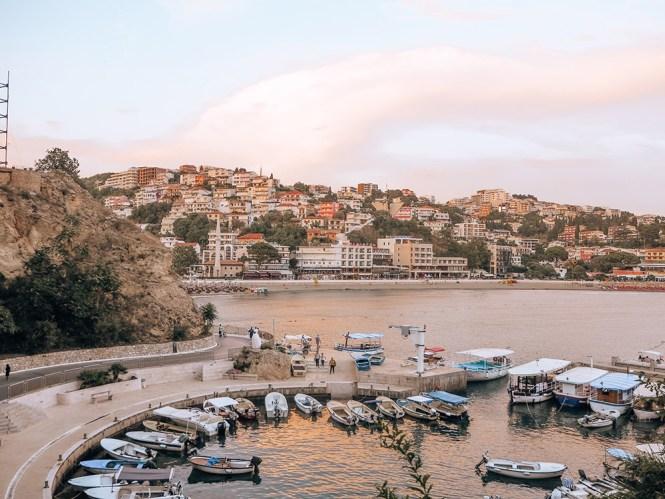 Vista da cidade antiga de Ulcinj