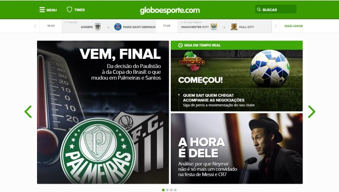 ...que segue o modelo do GloboEsporte.com.