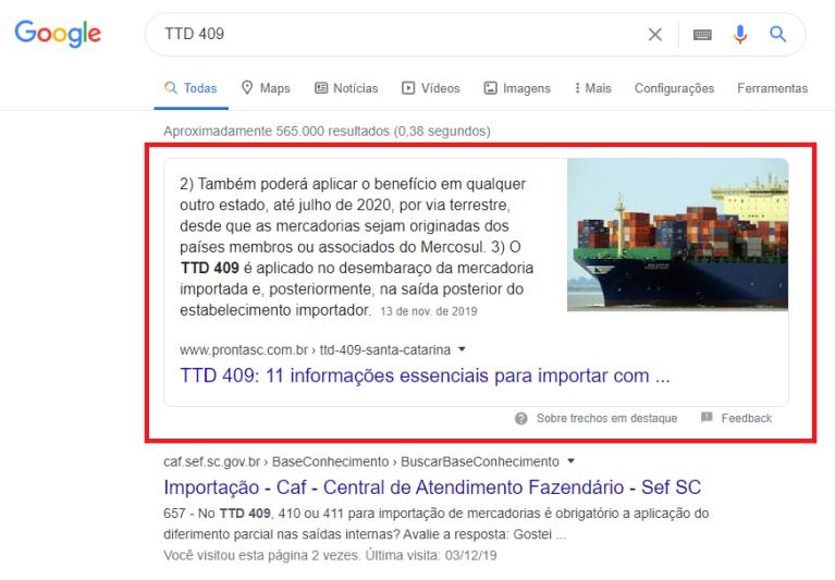 posição zero no google