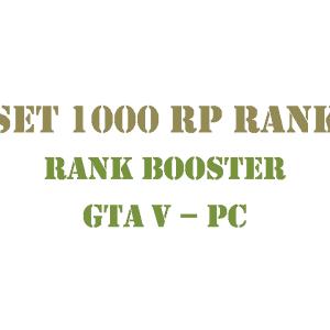 GTA 5 PC Rank Booster Set 1000 RP Rank