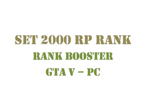 GTA 5 PC Rank Booster Set 2000 RP Rank