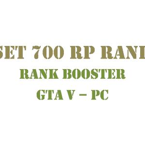 GTA 5 PC Rank Booster Set 700 RP Rank
