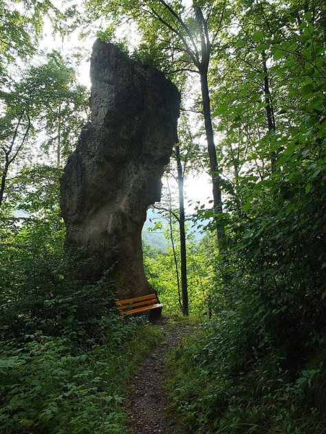 rock on trail