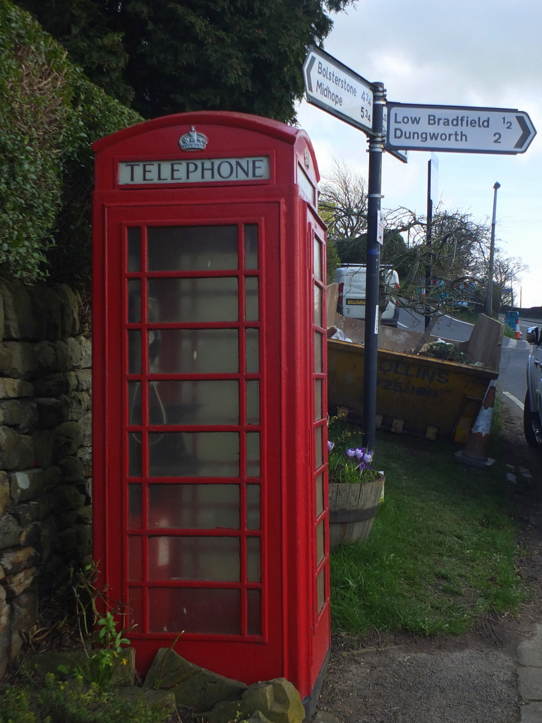Classic phone booth in High Bradfield