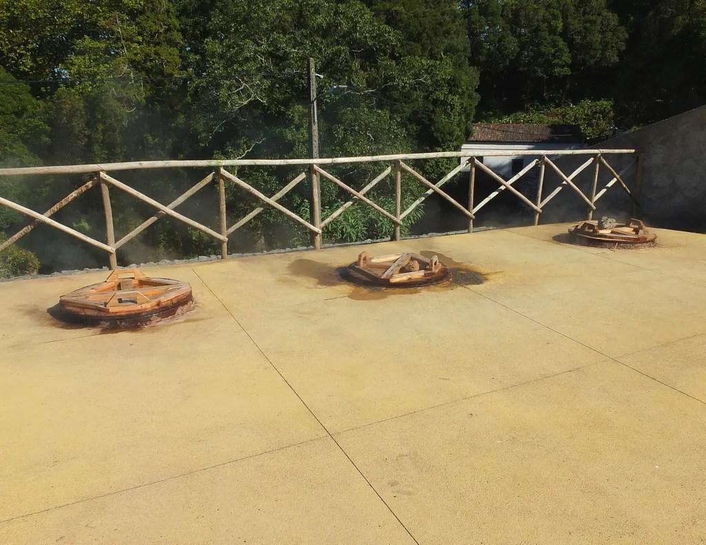 cooking wells at Caldeiras da Ribeira Grande