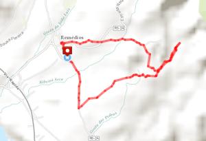 Rota da Água-Janela do Inferno Day Hike Route