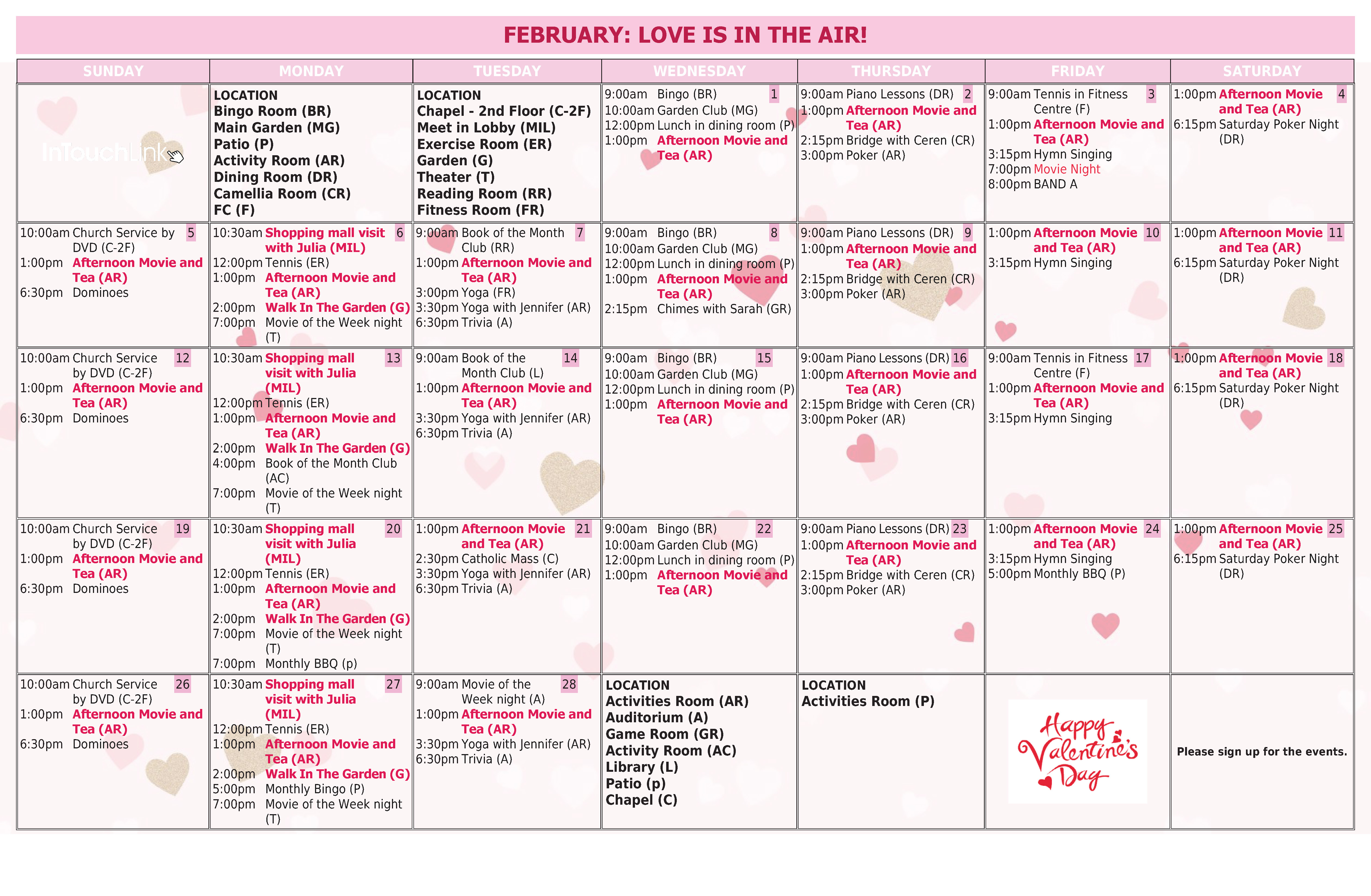 Samples Of Monthly Activity Calendar Templates And Designs