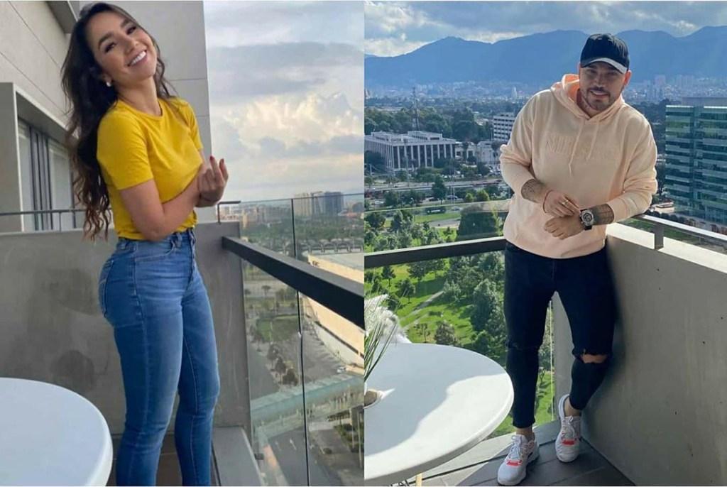 Paola Jara y Jessi Uribe en el mismo balcón