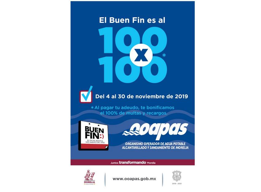 Ooapas Lanza Oferta Con Motivo Del Buen Fin 2019 Primera
