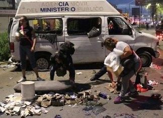 En Puebla, 70 casillas fueron robadas, destruidas y quemadas