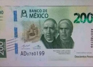 Nuevo billete de 200 pesos llegará la próxima semana