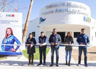 Inaugura Gobernador gimnasio municipal en Ciudad Mier