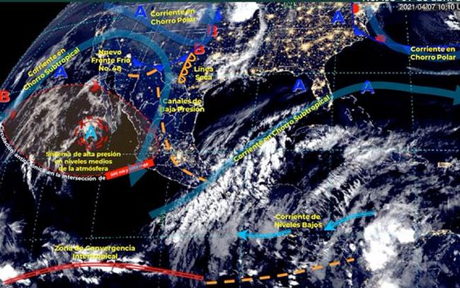 Fuertes lluvias en el centro y sureste del país