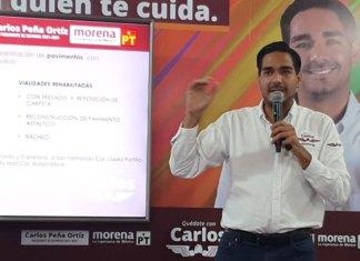 """Muestra Carlos Peña el eje """"Obra Pública y Medio ambiente"""""""