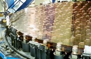 Pistones bajo el espejo del telescopio Subaru.