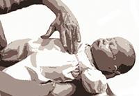 Compresiones de pecho en bebés