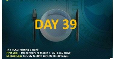 (RCCG) fasting 2018 prayer points for day 39