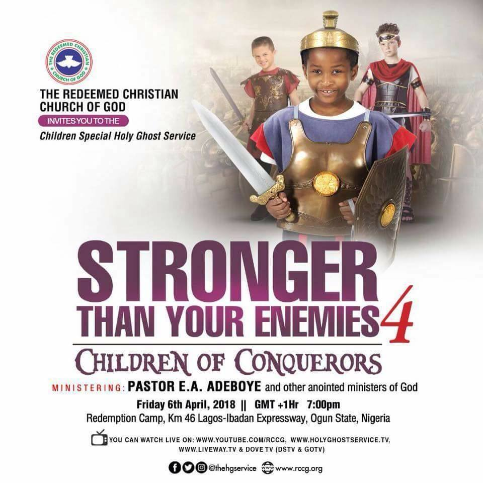 Redeemed Christian Church of God RCCG April 2018 Children Special Holy Ghost Service