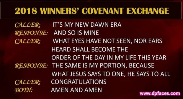2018 Winners Covenant Exchange (Greetings) By Bishop David Oyedepo