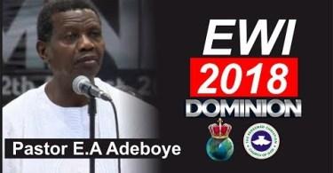 Convention 2018 EWI RENDITION SONG By Pastor E.A Adeboye (Jesu Gba Mi La}