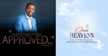 Todays open heaven topic The Purpose of being Alive 2 December 2018 Sunday