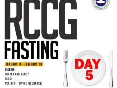 RCCG 2019 Fasting Prayer Points day 5