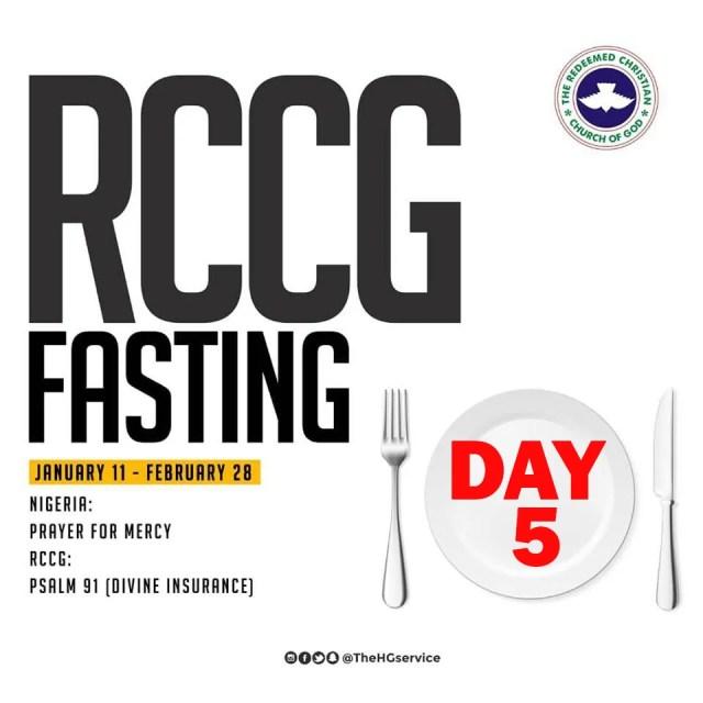 RCCG 2019 Fasting Prayer Points day 5