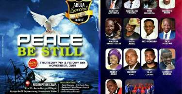 Watch Live RCCG NOVEMBER SPECIAL HOLY GHOST SERVICE ABUJA 2019