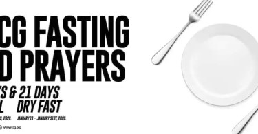 Prayer Guide For RCCG January 2020 Fasting