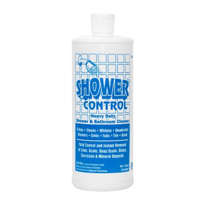 Shower Control is a Heavy Duty Cleaner for Showers and Bathrooms