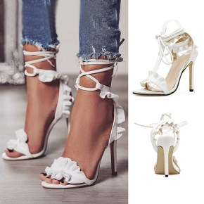 Sexy Ruffle Stiletto in White