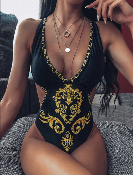 Versace Print Swimsuit One Piece