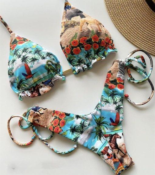 Tropical Paradise Love Bikini Primestyle.club