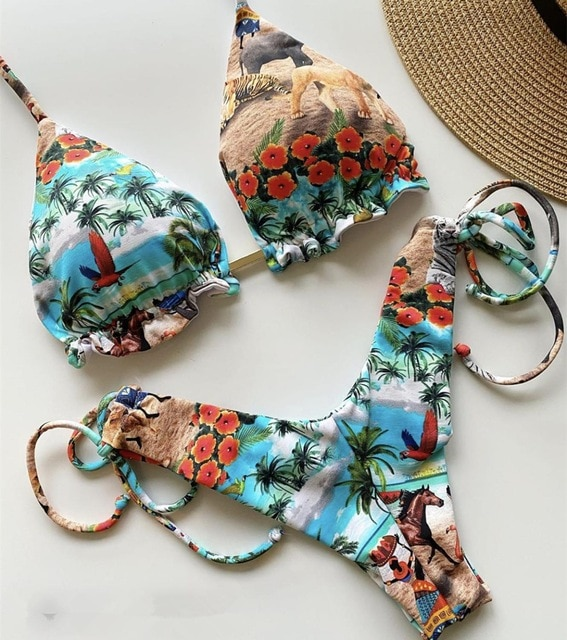 Tropical Paradise Love Bikini Primestyle.club